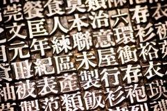 китайский тип Стоковая Фотография