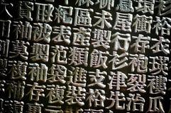 китайский тип letterpress Стоковые Изображения RF