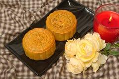 Китайский торт луны для китайского фестиваля средний-осени Стоковые Изображения RF