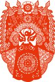 Китайский традиционный бумажный режа Новый Год фестиваля спринта иск иллюстрация штока