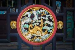 Китайский традиционный деревянный высекать Стоковые Фото