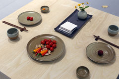 Китайский традиционный обеденный стол стоковая фотография rf