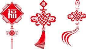 Китайский узел векторов Стоковые Фотографии RF