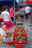 Китайский фестиваль шлюпки дракона, рынок для продажи вареников риса стоковая фотография rf