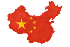китайский флаг Стоковое фото RF