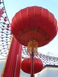 китайский фонарик китайское Новый Год Дубай Стоковая Фотография