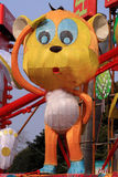 Китайский фонарик обезьяны зодиака Стоковое фото RF