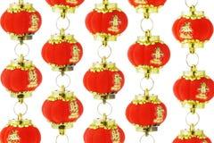 китайский фонарик орнаментирует красный цвет Стоковое фото RF