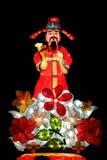 Китайский фонарик Caishen бога Стоковое фото RF