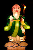 Китайский фонарик Shou бога Стоковое Фото