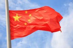 китайский флаг Стоковое Изображение RF