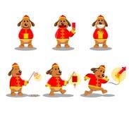 Китайский характер собаки Нового Года Стоковые Фотографии RF