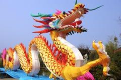 китайский цветастый фонарик дракона традиционный Стоковая Фотография RF