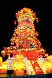 китайский цветастый фонарик Стоковое Изображение RF