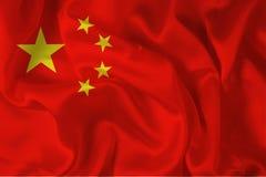 китайский цифровой флаг Стоковая Фотография
