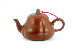Китайский чайник в белой предпосылке Стоковое фото RF