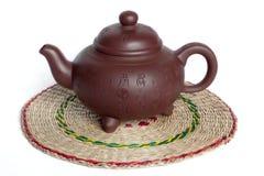китайский чайник глины Стоковые Фотографии RF