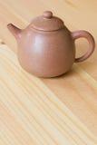 китайский чайник глины Стоковая Фотография
