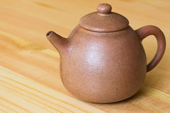 китайский чайник глины Стоковое Фото