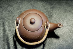 китайский чайник глины Стоковые Изображения