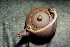 китайский чайник глины Стоковое Изображение RF