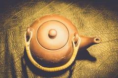 китайский чайник глины Стоковое Изображение