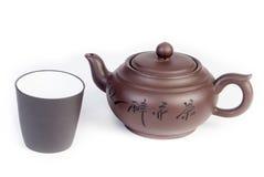 Китайский чайник с чашка Стоковое Изображение