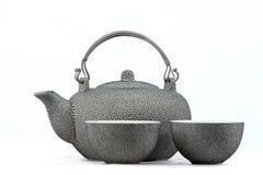китайский чайник чая кружки традиционный Стоковые Фотографии RF