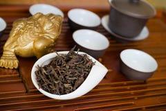 Китайский чай на специальной куче Стоковое Изображение RF