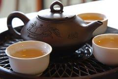 китайский чай обслуживания Стоковые Изображения