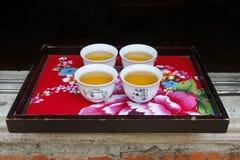 китайский чай сервировки Стоковые Фото