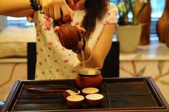 китайский чай сервировки Стоковое Изображение RF