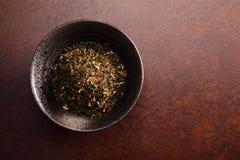 Китайский чай с предпосылкой Стоковые Фотографии RF