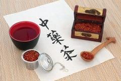 Китайский чай травы сафлора Стоковая Фотография RF