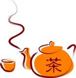 китайский чай иллюстрация штока