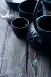 Китайский черный чайник Стоковая Фотография