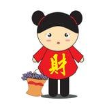 Китайский шарж девушки Стоковые Фото