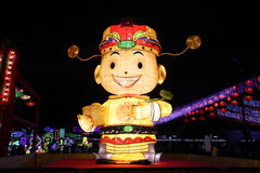 Китайский шарж Нового Года Стоковые Фото