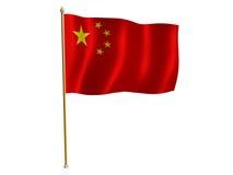 китайский шелк флага Стоковое фото RF