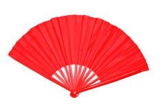 китайский декоративный красный цвет бумаги вентилятора Стоковые Фотографии RF