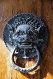 китайский knocker двери старый стоковое изображение
