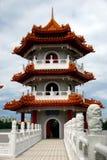 китайский pagoda singapore сада Стоковая Фотография RF