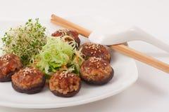 китайский vegetarian гриба тарелки Стоковая Фотография RF