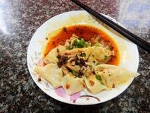Китайский wonton еды стоковое изображение rf