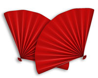 китайским красный цвет изолированный вентилятором 2 Стоковое Фото