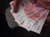 100 китайских примечаний юаней Стоковое Изображение RF