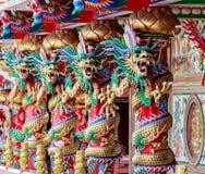4 китайских дракона Стоковые Изображения
