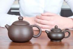 2 китайских чайника Стоковые Изображения