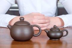 2 китайских чайника Стоковое Фото