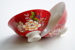 2 китайских шара фарфора для церемонии чая Стоковая Фотография RF